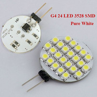 Wholesale G4 Bulb Pure White 12v - New Arrival SMD 3528 G4 LED Marine Bulb Lamp Light Car DC 12V Pin 24LED Home Bulb Lamp Pure White   Warm White