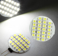 Wholesale Led Lights Cars Trucks - DC 12V Pure White Warm White G4 24 LED 3528 SMD Spot Indoor Car Truck RV LandscapE Light