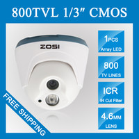 Wholesale Security Cameras Vandal Proof Dome - ZOSI 800TVL HD 960H CMOS Dome Camera 1PC Array IR LEDs Day night Indoor CCTV camera security camera 100ft night vision