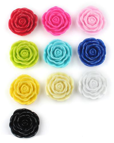 Acrylic Rose Flower Beads 45mm Large Rose Bead Chunky Bubblegum Bead Jewelry Supply Chunky Necklaces Supply Beads Bubblegum Beads