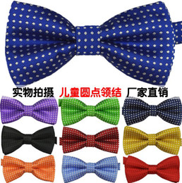 Costumes De Cou De Conception Pas Cher-Nouveau Design Enfants Coréenne Style 17 Cravates Bow Mode bébé Fashion Neckbow Enfants Dots imprimé Tuxedo / costume Costumes Bowknot I1373