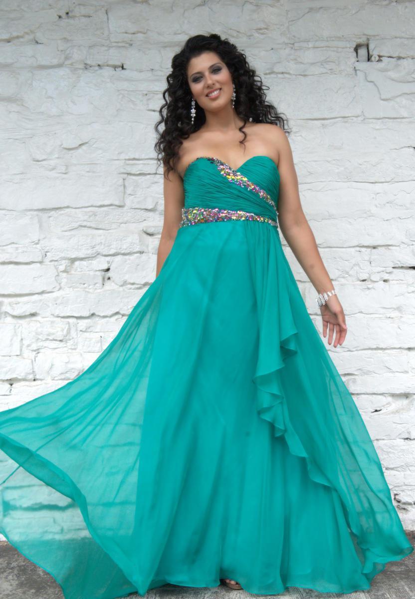 2014 Designer Fashionable Sweetheart Plus Size Evening Dresses ...