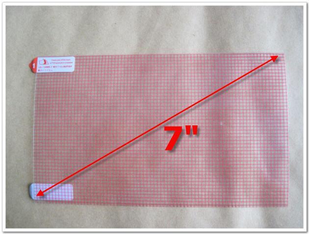 Universal 7 pouces Clear Screen Protector avec grille pour téléphone mobile GPS Tablet PC 3-Layer Film de protection composite