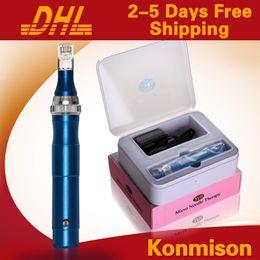 Wholesale electrical derma pen - 2014 Newest Dermapen With 50pcs Of Needle Cartridges Electrical Derma Stamp Micro Needle Derma Pen Derma Rolling System