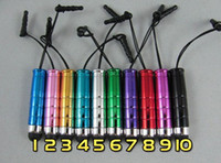 Wholesale Material Pen For Mobile - 500pcs lot Mini Stylus Touch Pen with plastic material capacitive touch pen for mobile phone tablet PC
