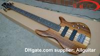 ingrosso bassi della porcellana-5 corde Bass Natural One piece Body BASS Pickup attivi China Basso elettrico