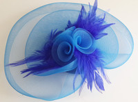 Wholesale Clip Fascinators - Bridal Accessories FEATHER HAIR MESH HAT FASCINATOR CLIP FLOWER WEDDING PARTY Fascinator #3604