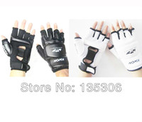 ingrosso combattimento pugno-Guantoni da boxe di trasporto libero mezzo dito Sanda Fighting Sandbag Fist Glove PU Leather Size S / M / L