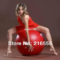 Wholesale Gray Burst - Hot Sale 45cm Red   Blue   Pink   Purple   Gray Stability Exercise Yoga Gym Fitness Ball 150kg Anti Burst