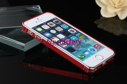 Wholesale Aluminum Bumper Frame Case - Slim Metal Bumper Case Cover for iPhone 5 5S Ultra thin 0.7mm Aluminum Hard Frame Protector Case for iPhone 4 4S Hot Selling!