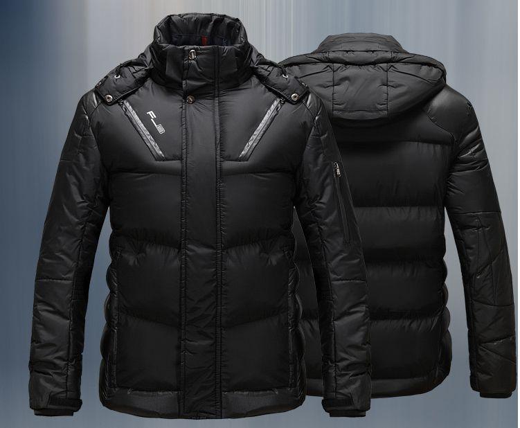 2017 High Quality New Tough Guy Men'S Winter Warm Coat Pure Color ...