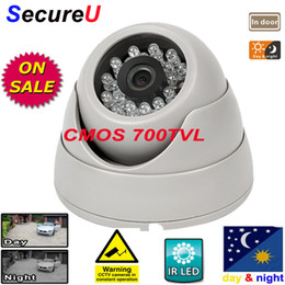 Wholesale indoor outdoor surveillance system - Free shipping IR CMOS 700TVL dome indoor use camera security system install surveillance digital video monitor thermal camera cctv equipment