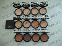 base de maquillaje color de la cara al por mayor-Envío directo de fábrica con DHL Envío gratuito Nuevo maquillaje Face 15g Studio Fix Powder Plus ¡NC20.25.30.35.37.40.42.43.45.47.50.55