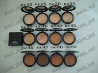 Wholesale Face Factories - Factory Direct DHL Free Shipping New Makeup Face 15g Studio Fix Powder Plus Foundation!NC20.25.30.35.37.40.42.43.45.47.50.55