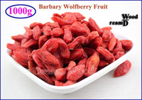 dried chinese berries achat en gros de-Gros-1000g Goji Berry Organic Dried goji Ning Xia Barbary Wolfberry Fruit Goji Berry 1KG (2.2lb) Chinois Lycii Tisane