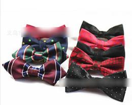 Wholesale Baby Boy Tuxedo Bow Tie - Hot Selling ! Children Boys Boutique Korean Style Bow Ties Baby Fashion Neckbow Kids Various Printed Tuxedo   Formal Suit Bow-Tie I1376