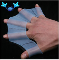Wholesale Glove Material - Free Shipping silicone material f rog palm swimming fins for hands_sailor webbed palm flying fish webbed gloves flippers