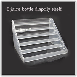 Wholesale Electronic Cigarette Acrylic - 1pcs Transparent electronic cigarette acrylic e juice bottle display holder rack store shop show stand e cig display shelf