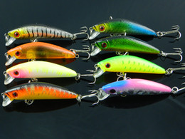 Wholesale Japan Tackle Wholesale - New 70mm 2 hooks Minnow Fishing hard bait Lures fishing tackle,hook lures 7CM 8.1G Japan hook 8pcs free shipping