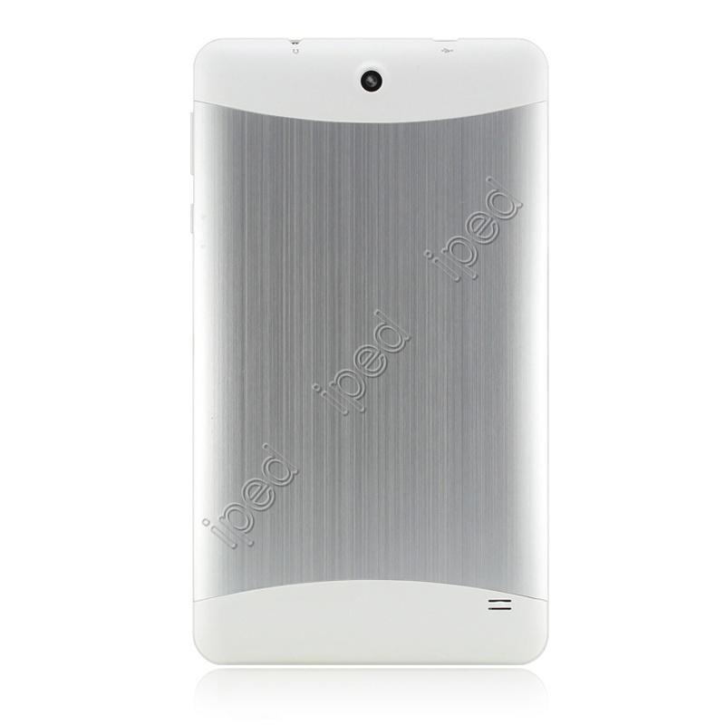 7 Pulgadas MTK6572 2G Phablet Metal Cover Llamada de Tablet PC Dual Core Android 4.2 Capacitiva Webcam Bluetooth 2 Tarjeta SIM GSM Plata Rojo Negro