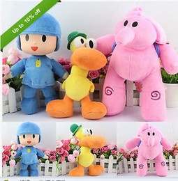 Wholesale Elly Doll - Hot sale 3Pcs Set 22-30cm PATO Pocoyo ELLY PATO Soft Plush Stuffed Figure Toy Doll POCOYO free shipping
