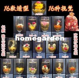 Wholesale Tea Blossom Flower - Wholesale-free shopping Wholesale 48 pcs  lot 16 styles kinds Blooming tea Art viewing Blossom Flower ProcessTea