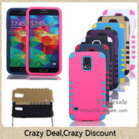 Wholesale Silicon Case Galaxy S3 - Unique Design Waterproof Galaxy S5 Silicon Phone Case 10 Dots Robot Cases for iPhone 5C 5S Galaxy S5 S4 S3 Note 3 2 Cell Phone Smartphone