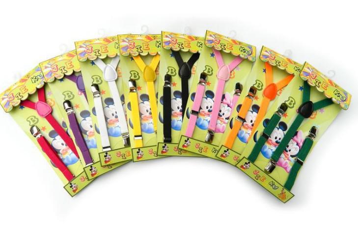 الأطفال طفل الفتيان الفتيات وصفت 3 كليب y الشكل حزام الكتف الاطفال متعدد الألوان تعديل حمالة مطاطا هدفين كيد السراويل مجلد I1385
