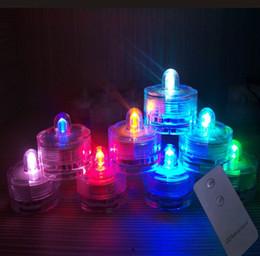 Wholesale Colour Change Candles - Remote control colour changing submersible single LED candle tea light