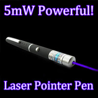 Wholesale Lazer Light Power - Brand New Stylish 405nm Blue Purple Laser Pointer Light Pen Lazer Beam 1mW <5mW High Power