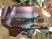 etiquetas de bolha 3d venda por atacado-Azul para Roxo 3D Camaleão De Fibra De Carbono Vinyl Car Wrapping Film com Bolha Livre Para Adesivos de Carro FedEx FRETE GRÁTIS Tamanho: 1.52 * 30 m / Roll