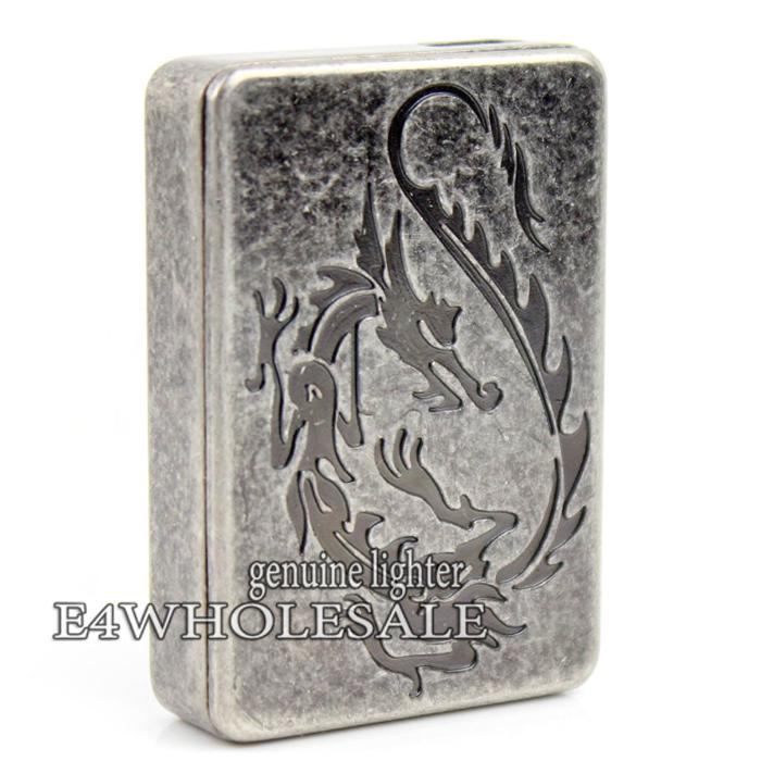 Carved Flying Dragon Pattern Windproof USB Rechargeable Battery Flameless Cigar Cigarette Lighter