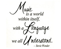 Wholesale Music Vinyl Wall Sticker - Wall Decal Quote Sticker Vinyl Art Removable Lettering Music Stevie Wonder
