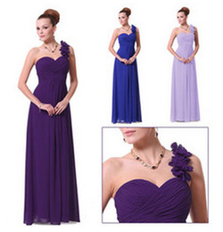 Wholesale Cheap Formal Dresses Free Shipping - Free Shipping Cheap One Shoulder Chiffon Prom Gown Sexy Bridal Formal Ball Gowns Formal Party Dresses Long Evening Dress