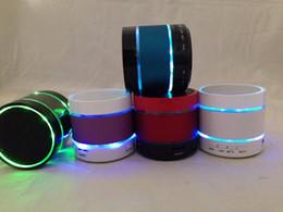 Wholesale Beatbox Bluetooth Speakers - Free DHL NEW S09 3 LED Light Ring Enhanced speaker Super Bass Metal Mini Portable BeatBox Hi-Fi Bluetooth Handfree Mic Stereo Speakers