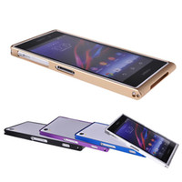 Wholesale Xperia Z1 Bumper Cases - S5Q Aluminum Case Metal Bumper Frame Cover Protector For Sony Xperia Z1 L39h AAADJU
