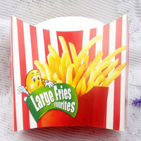 Fries descartáveis ​​Favoritos French Fries Paper Bag pequenos lanches Box Container Eco-friendly Sobremesa Pacote 100pcs / lot CK135