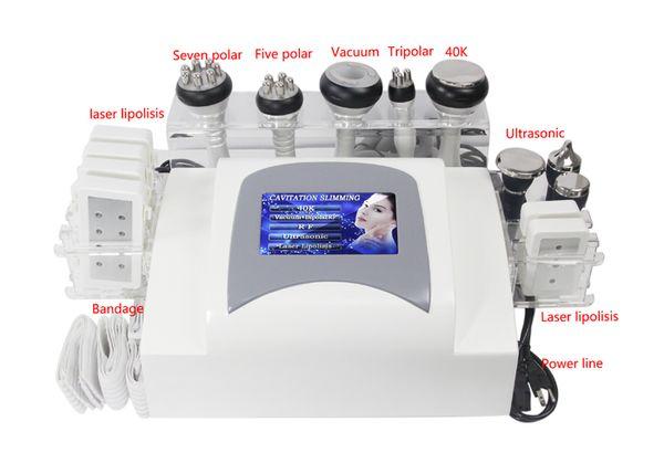 Update Lipo Laser Lipolysis Liposuction Radio Frequency Cavitation Vacuum RF slimming machine 3 ultrasound for body face eye skin care