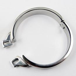 Canada Nouvel anneau de chasteté anneau en acier inoxydable pour les métiers de la chasteté Métal Mâle dispositif de chasteté fétiche cheap craft cock rings Offre