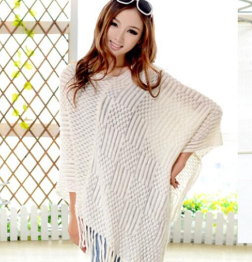 2015 knit ponchos Lazer Cardigan Tricô Casaco senhora Batwing Cape Poncho xale Wraps Cardigan Camisola # 3611