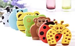 New Care Bambino bambini Baby Animal Cartoon Jammers Stop Porta fermaporta serratura Safety Guard Finger 7 stili in Offerta