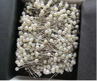 "Wholesale Needle Crafts - 700pcs 1 1 2"" White Round 3mm Pearl Head Pins Corsage or Crafts"