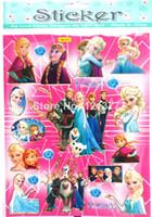 Wholesale Nursery Flats Wholesale - free shipping 50 pcs lots Kids Cute Cartoon Frozen Decoration Wall Stickers,flat Stikers,Plan Sticker