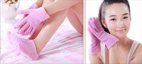Wholesale Bath Spa Treatments - Free Shipping Soft Spa Gel Socks for beautiful feet Moisturizing Treatment Gel Spa Socks (1 pair glove+1pair socks)