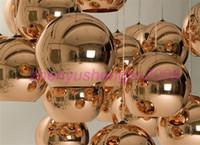 tom dixon lamba bakır toptan satış-Ücretsiz kargo sıcak satış Tom Dixon Bakır Gölge (Dia 20, 25, 30, 35, 40 cm), modern lamba Sarkıt Tavan lambası süspansiyon aydınlatma