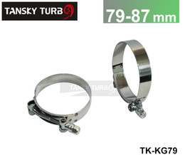 "Wholesale Performance Turbochargers - Tansky - High-performance 2.72""- 3"" INCH (79MM-87MM) SILICONE TURBO HOSE COUPLER T BOLT SUPER CLAMP KIT (TK-KG79)"