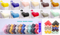 Wholesale door edges - Colorful Baby care safety corner Children Safety Accessorie  Baby Desk edge Angle Protection Pad Anticollision stop door