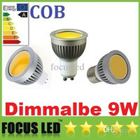 Wholesale E27 Spotlight Lm - CE ROHS UL CSA Newest COB 9W GU10 E27 E26 GU5.3 Led Spot Light Bulb 600 LM MR16 12V Dimmable Cool Warm White Led Downlight Lamp 110-240V 12V