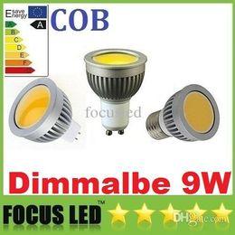 Wholesale Led 9w Lm - CE ROHS UL CSA Newest COB 9W GU10 E27 E26 GU5.3 Led Spot Light Bulb 600 LM MR16 12V Dimmable Cool Warm White Led Downlight Lamp 110-240V 12V