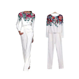 Wholesale Animal Cocktails - S5Q Women Slim Floral Summer Casual Sexy Chiffon Cocktail Party Siamese Clothes jumpsuit AAADJG